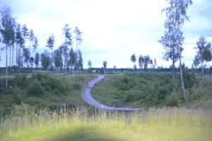 Utspill fra gul tee på hull 6. Her må man over en ravine på vel 110 meter for å være trygg.